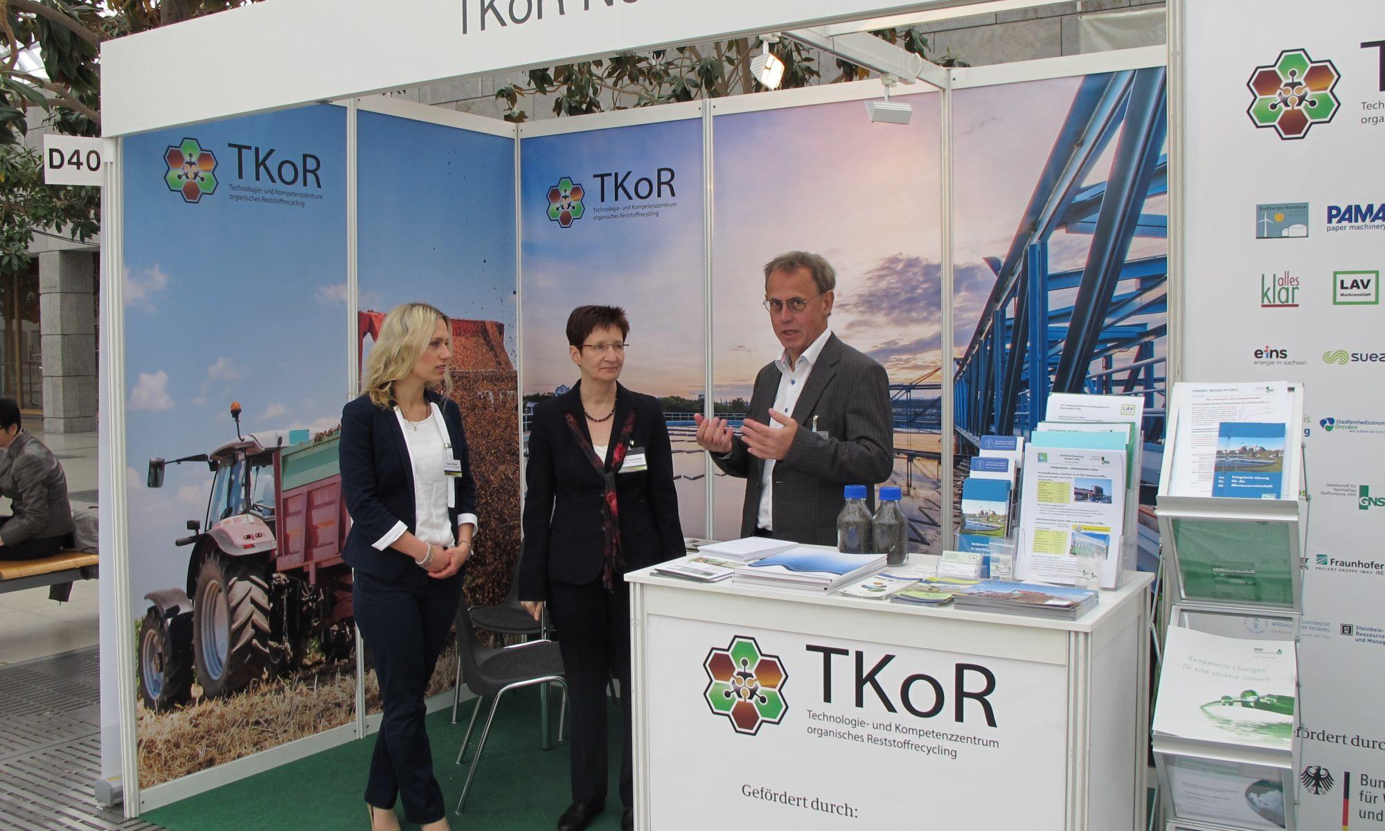 Stand des TKoR-Netzwerks auf der terratec in Leipzig. – Foto: evermind GmbH/Georg Drabner